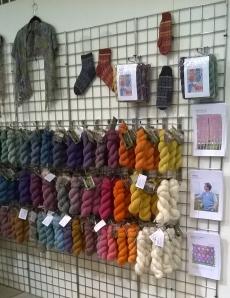 Gorgeous yarn at The Natural Dye Studio