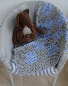 Granny Blue Lap Blanket