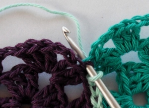 Slip stitch side by side back loops only