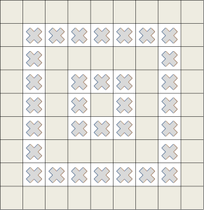 Agathi motif is shown as a cross, solid motifs are shown as shaded squares2