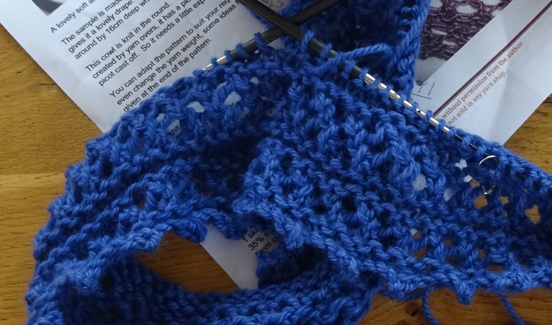 Knitting Yarn ~ Stylecraft Malabar Aran cotton /& silk 100g balls blue//buttermilk